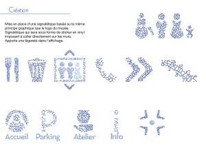 Création de l'identité visuelle du nouveau musée de la céramique Keramis en Belgique. Exercice d'école.