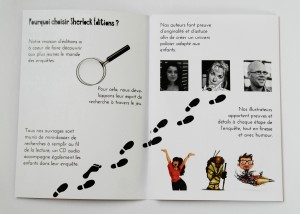 Création de l'identité visuelle d'une maison d'édition spécialisée dans les romans policiers jeunesse. Projet de fin d'année.