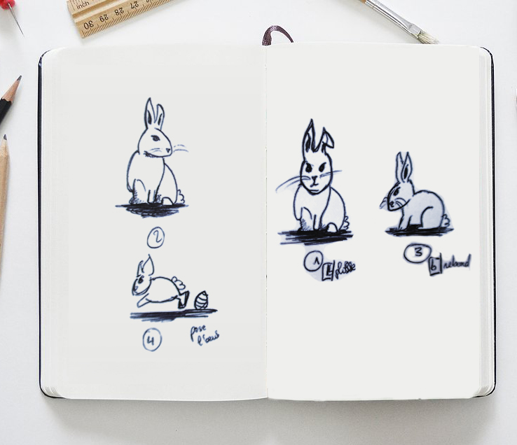 Croquis Lapin Paques